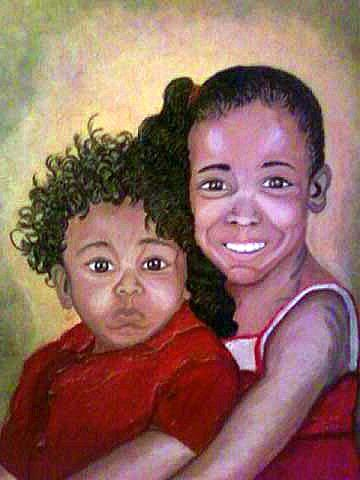 Acrylic Painting - My Brothers Keeper  by Keenya  Woods