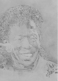 Bluesman Drawing - My Buddy Guy by B Jaxon