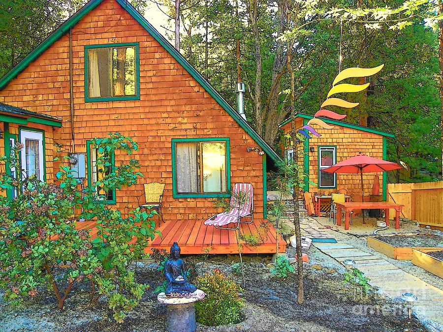 Idyllwild Photograph - My Cabin by Lisa Dunn