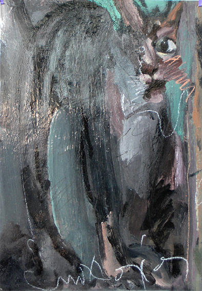 Cat Painting - My Cat by Manolis Polymeris