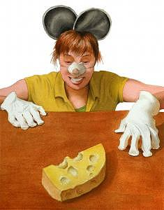 My Cheese Painting by Israel Reza