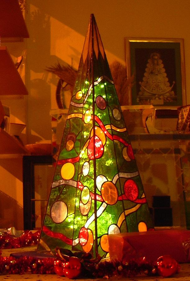 Christmas Glass Art - My Christmas Tree by Justyna Pastuszka