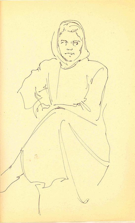 Girl Drawing - My Classmate 2 by Mehrdad Sedghi