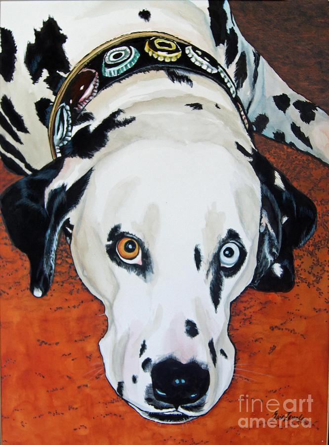 Animal Painting - My Cock-eyed Dog by Gail Zavala