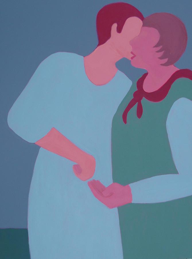 Best Friends Painting - My Confidant by Renee Kahn