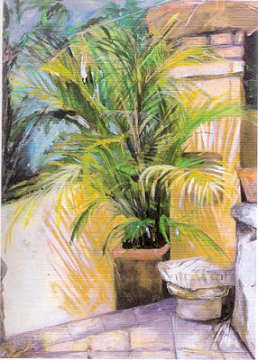 Plant Painting - My Corner by Michelle Winnie