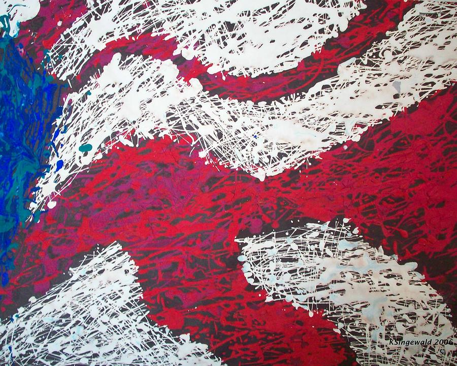Flag Painting - My Country by Cary Singewald
