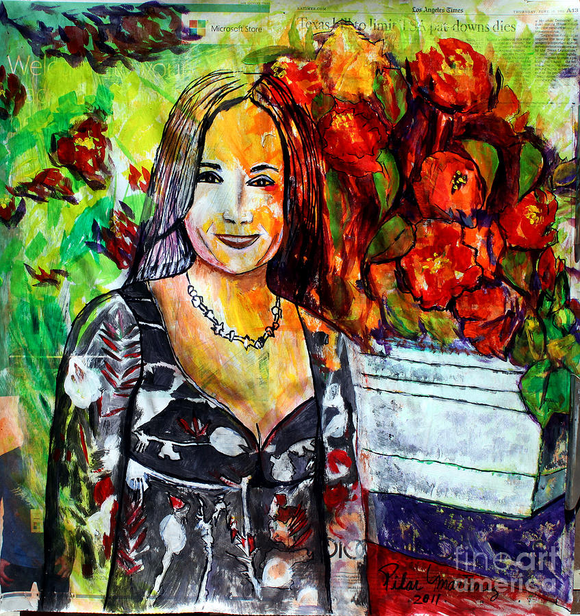 Cousin Painting - My Cousin Regina by Pilar  Martinez-Byrne