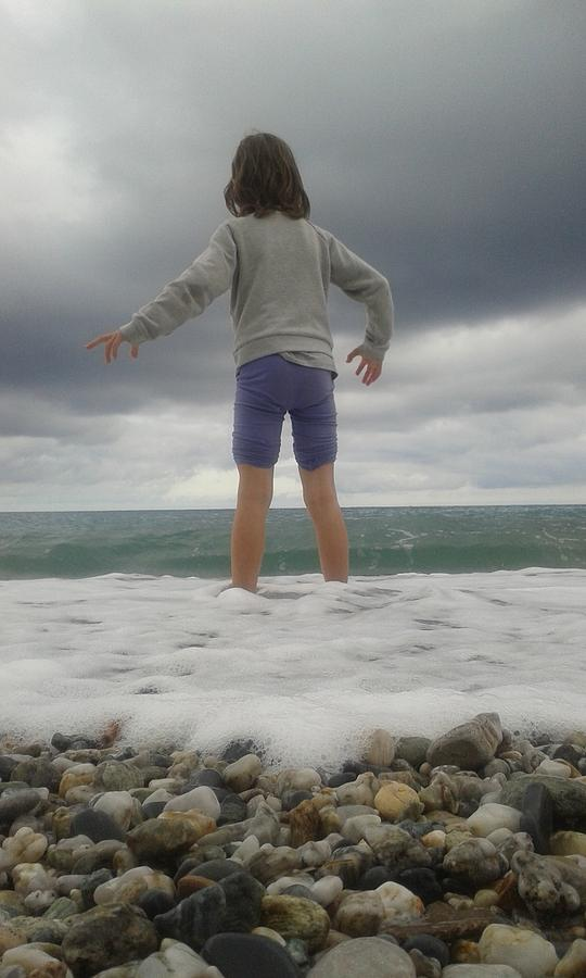 My Daughter Francesca - Playing With The Waves 2 Photograph