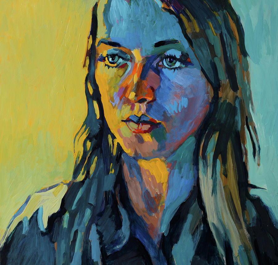 Portrait Paintings Painting - My Daughter Zosia by Piotr Antonow