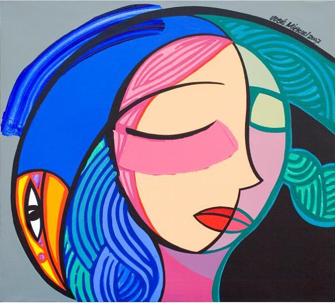 Women Painting - My Daughters Dreams by Jose Miguel Perez Hernandez