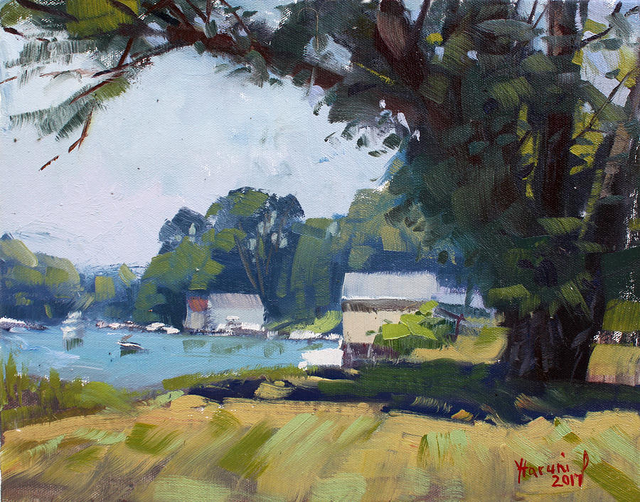 Demonstration Painting - My Demonstration At Plein Air Workshop At Mayors Park by Ylli Haruni
