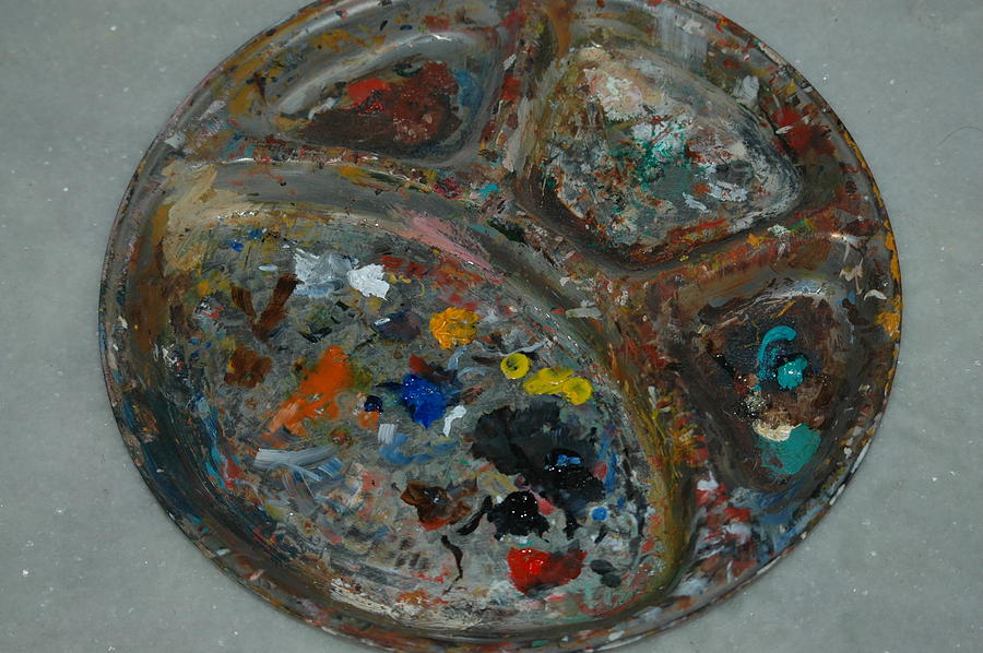 Palette Photograph - My Dirty Palette Just Cleaned by Harpreet Singh
