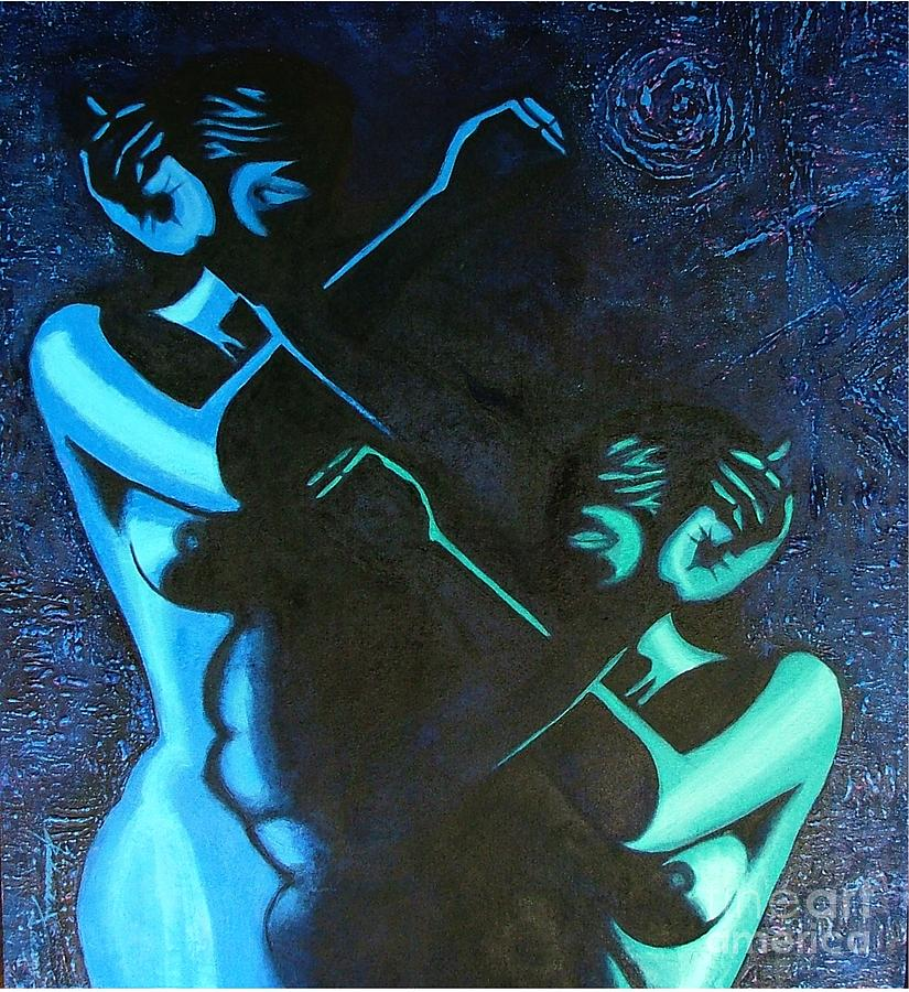 Figurative Abstract Painting - My Disownment by Padmakar Kappagantula