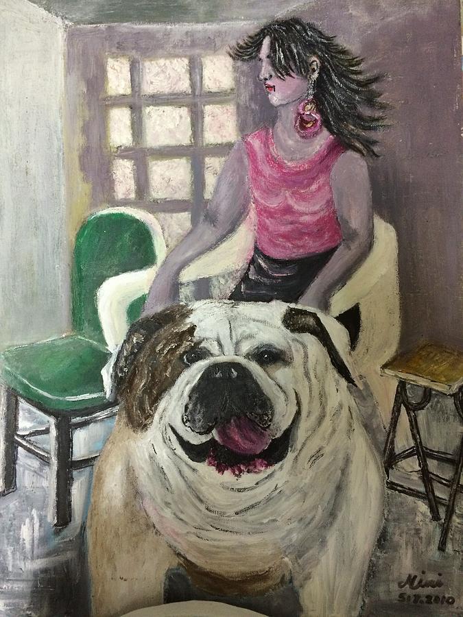 Dog Painting - My Dog, My Friend by Mimi Eskenazi