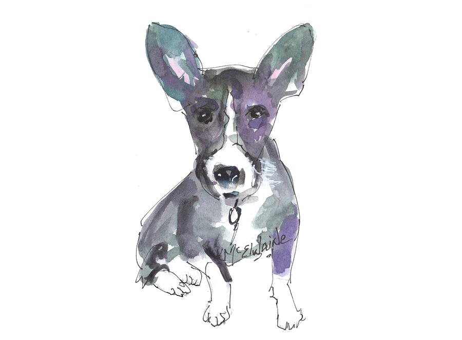 My Dog Ultra Violet Painting by Kathleen McElwaine