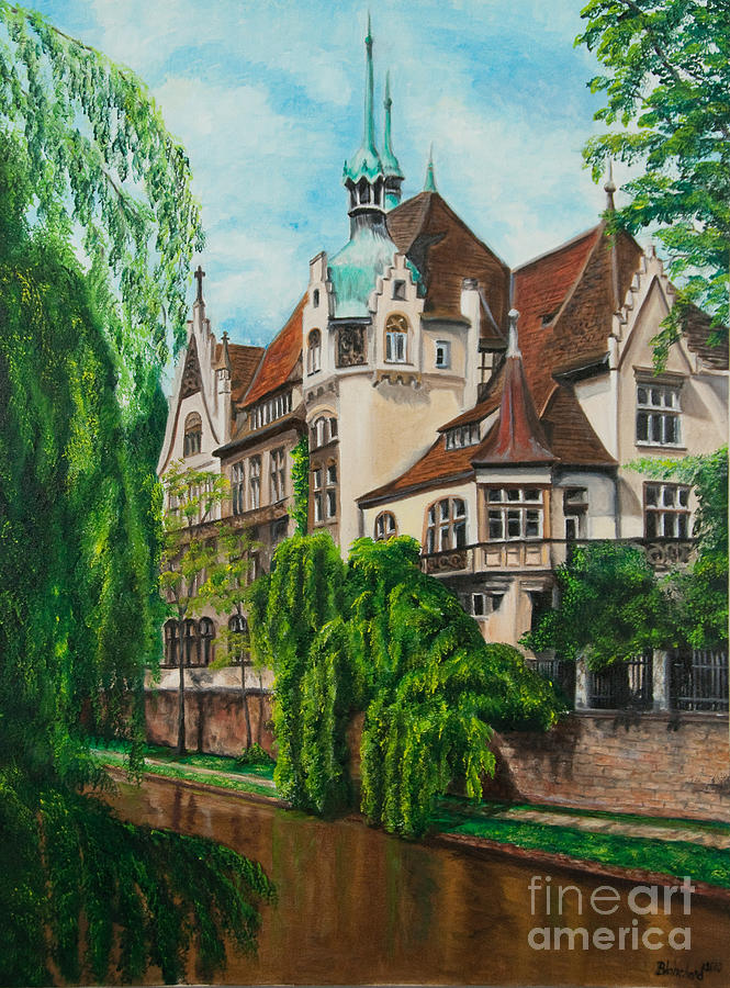 Dream House Painting - My Dream House by Charlotte Blanchard