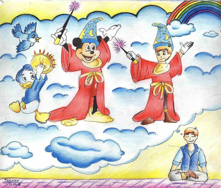 Disney Characters Painting - My Dream by Tanmay Singh