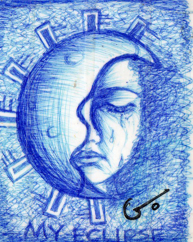 Print Mixed Media - My Eclipse by Agatha Green
