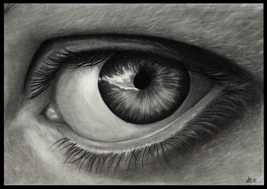 Eye Drawing - My Eye by Alycia Ryan