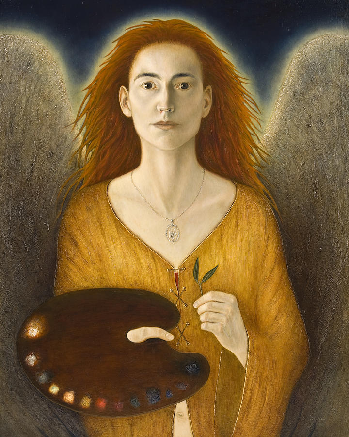 Angel Painting - My Faithful Companion by Nanne Nyander