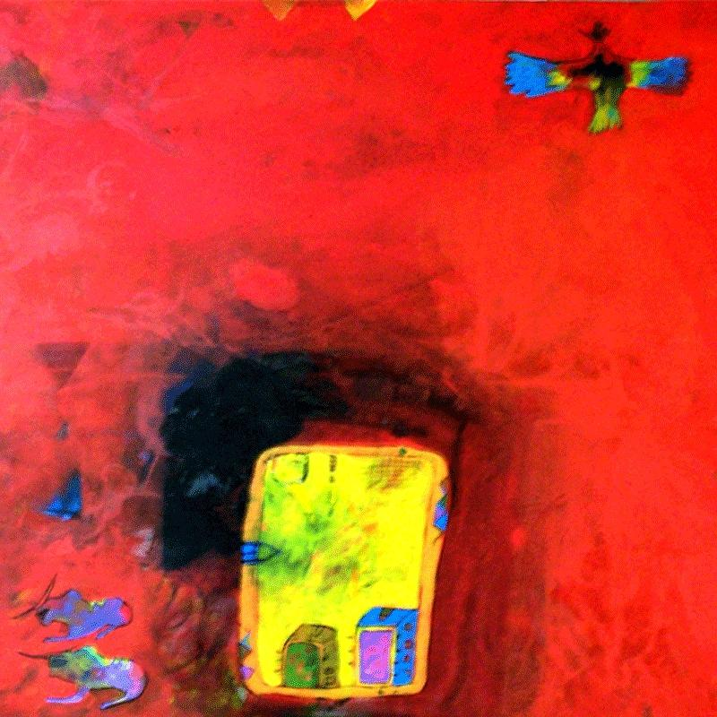 Abstract Painting - My Farm  by Islam Kamil