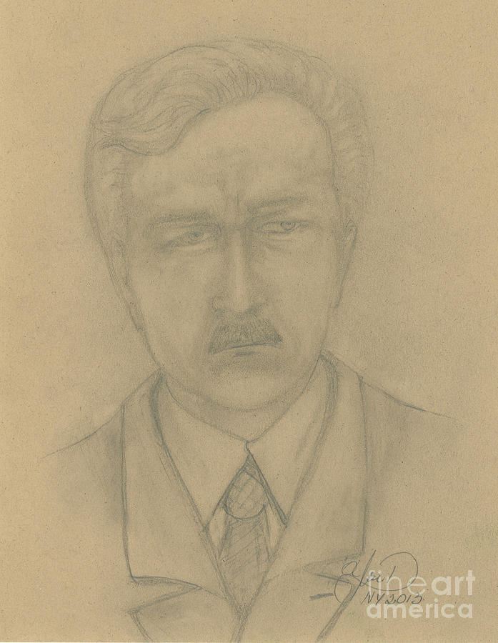 Drawing Painting - My Father by Anna Folkartanna Maciejewska-Dyba