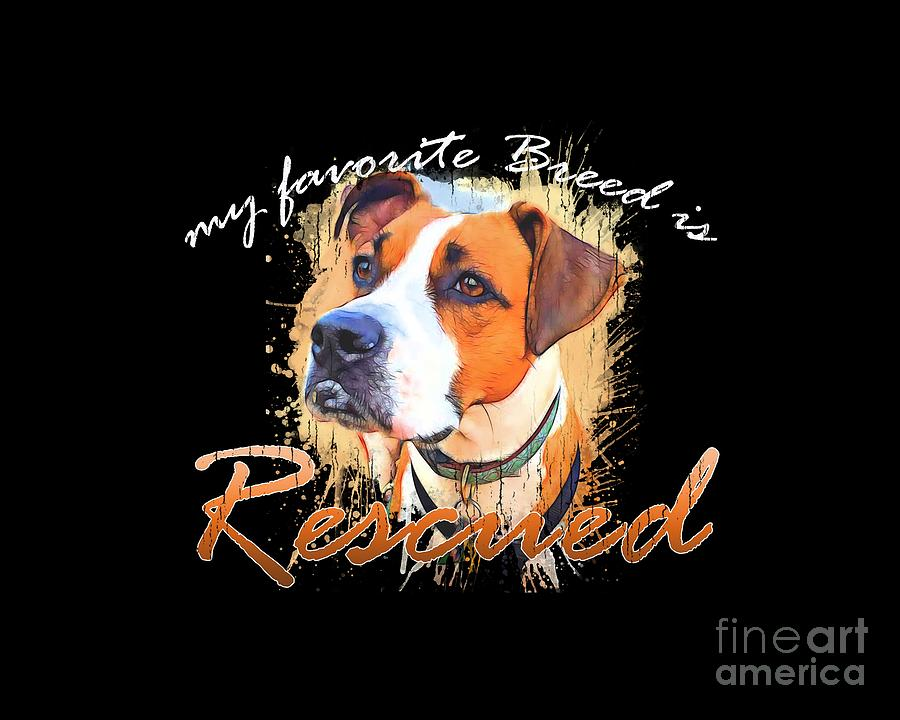 My favorite breed is rescued Watercolor 5 by Tim Wemple