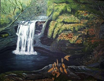 Landscape Painting - My Favorite Falls by Pat  Corbett