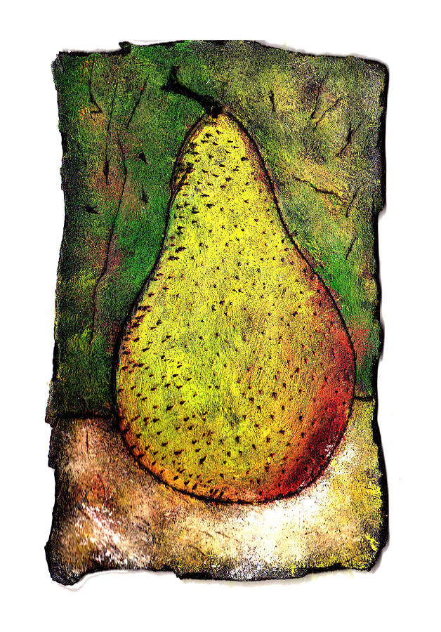 Pear Painting - My Favorite Pear One by Wayne Potrafka