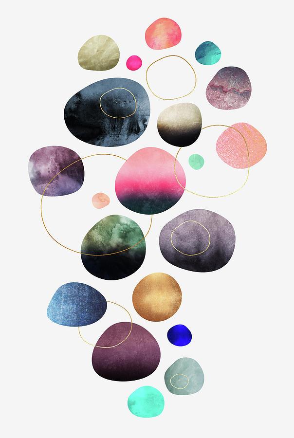 Graphic Digital Art - My Favorite Pebbles by Elisabeth Fredriksson