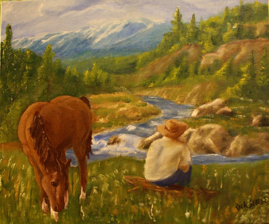 Horse Painting - My Favorite Resting Place by Rick Stoesz