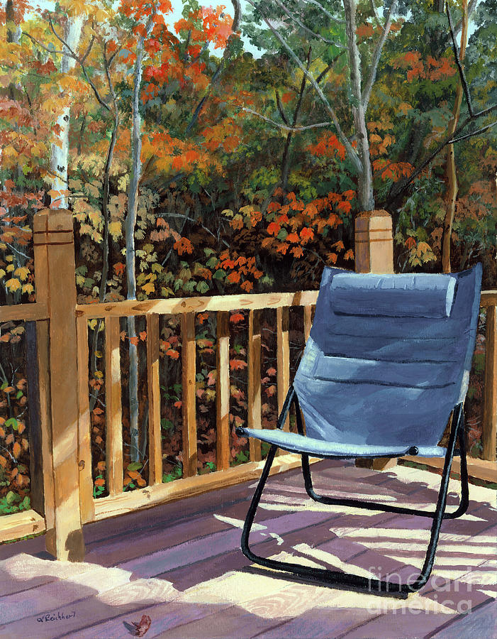 Camp. Fall Painting - My Favorite Spot by Lynne Reichhart
