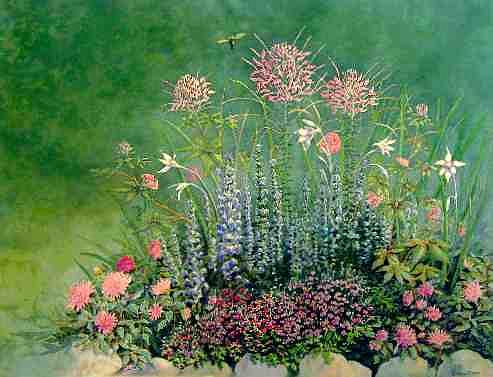 Floral Painting - My Flower Garden by Naomi Rogers