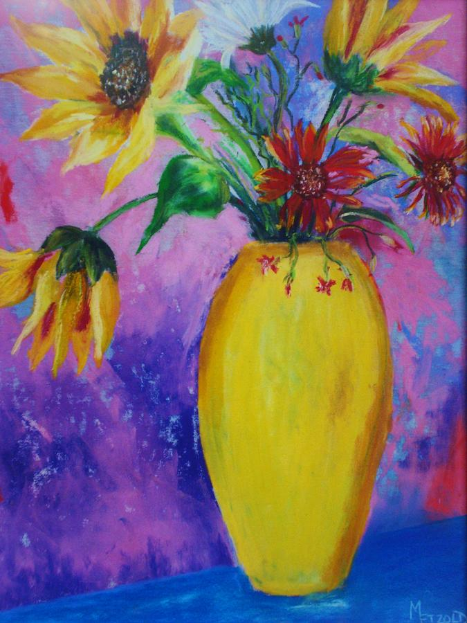 Sunflowers Painting - My Flowers by Melinda Etzold