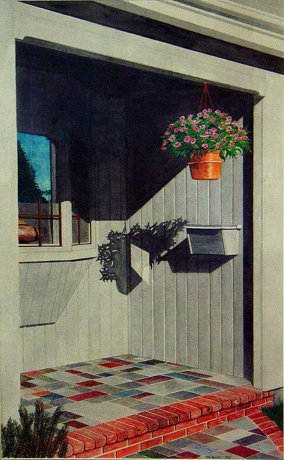 Porch Painting - My Front Porch by Ron Sylvia