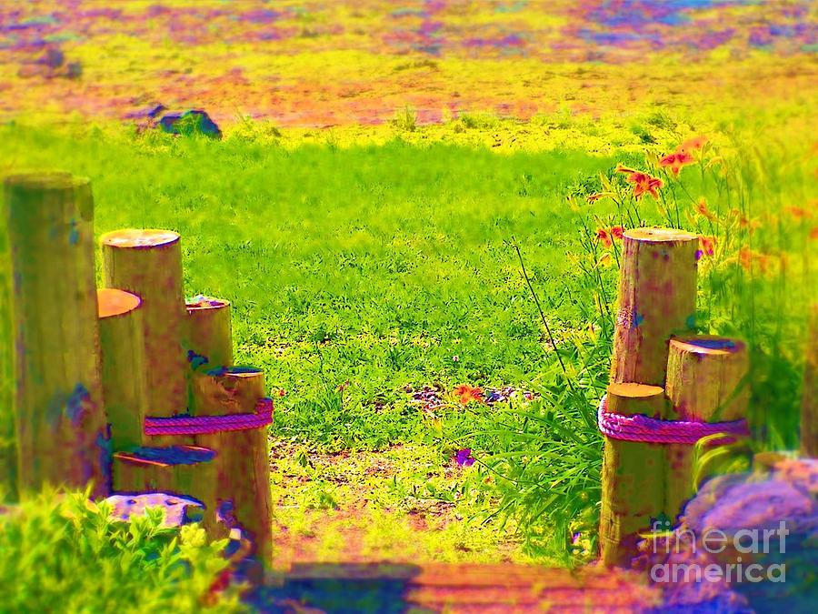 Garden Painting - My Garden Dream by Deborah Selib-Haig DMacq