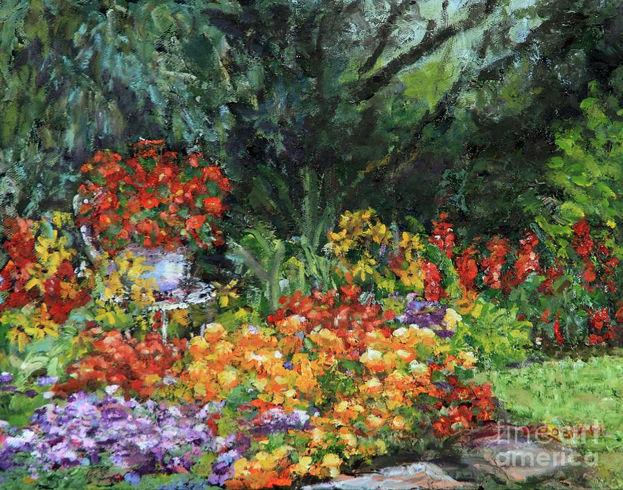 Oil Painting Painting - My Garden by Elizabeth Roskam