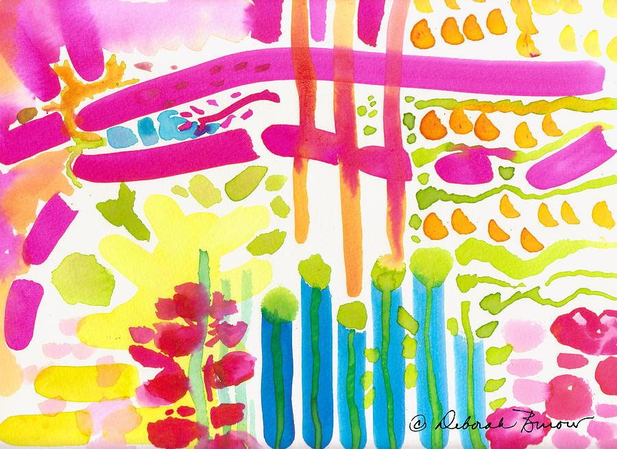 Garden Path Painting - My Garden Path by Deborah Burow