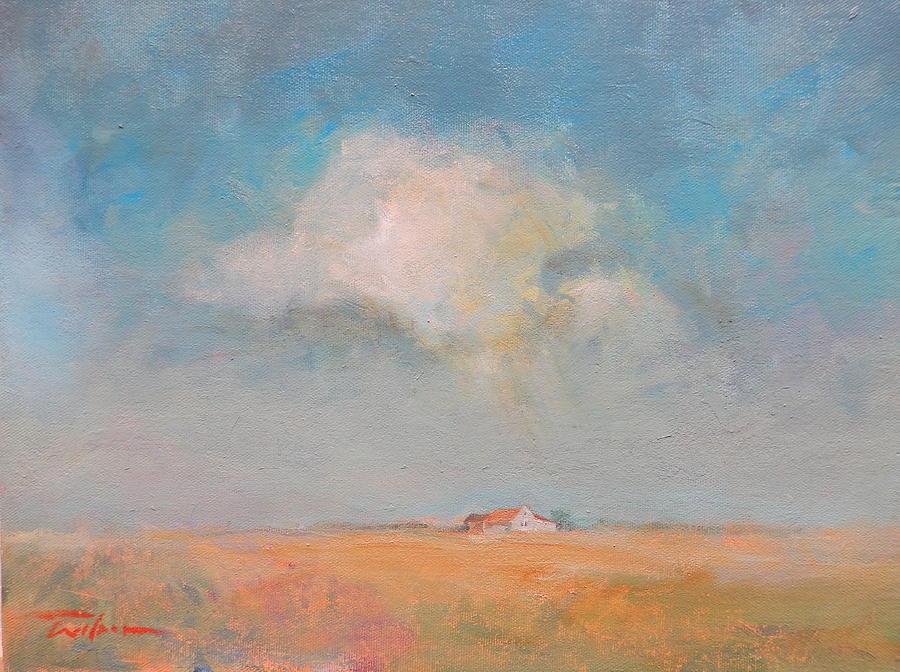Farm Painting - My Getaway Farm by Ron Wilson
