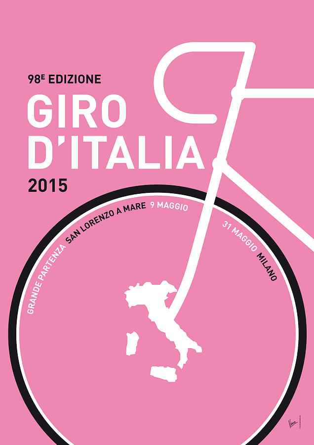 2015 Digital Art - My Giro Ditalia Minimal Poster 2015 by Chungkong Art