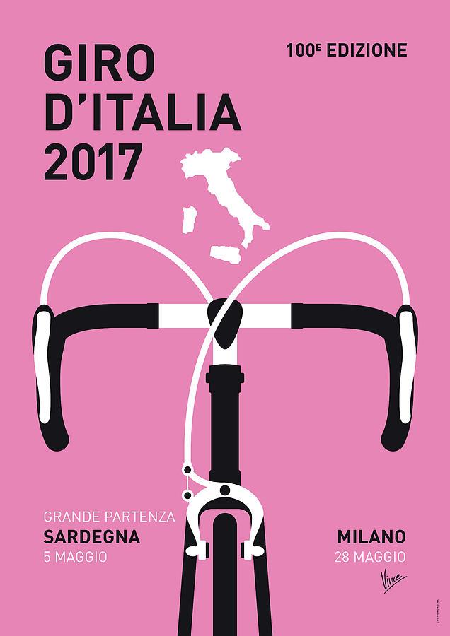 2017 Digital Art - My Giro Ditalia Minimal Poster 2017 by Chungkong Art