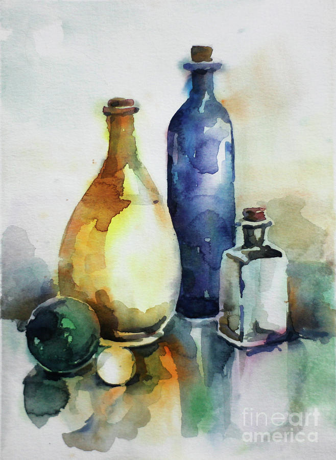 My Glass Collection Iv Painting by Nedko  Nedkov