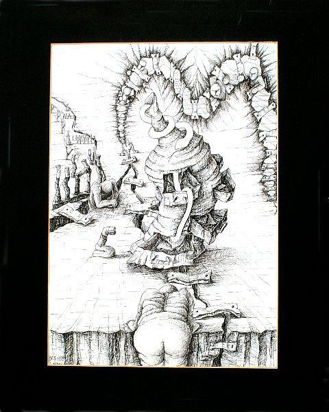 My God Drawing by Cheryl Loom