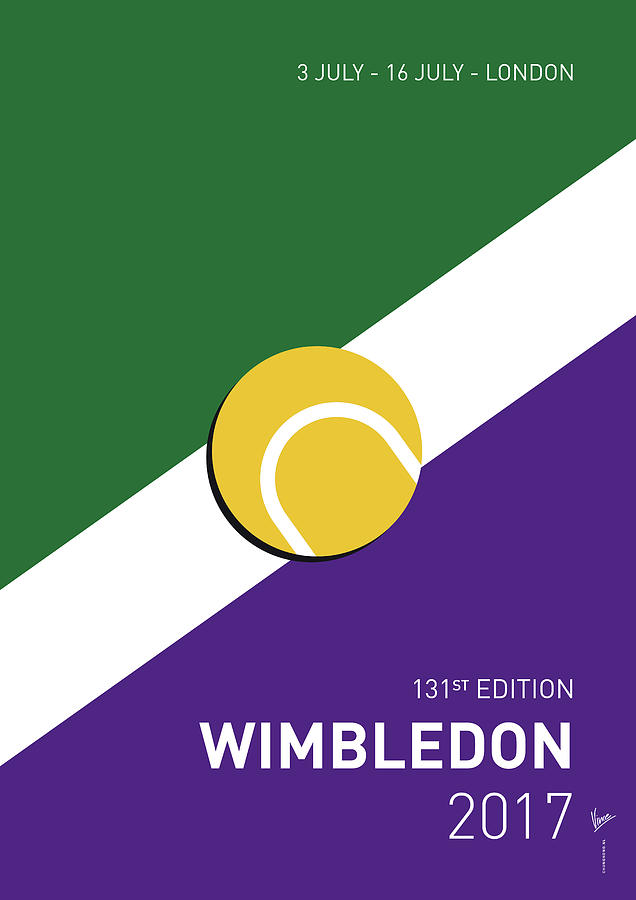 My Grand Slam 03 Wimbeldon Open 2017 Minimal Poster Digital Art by Chungkong Art
