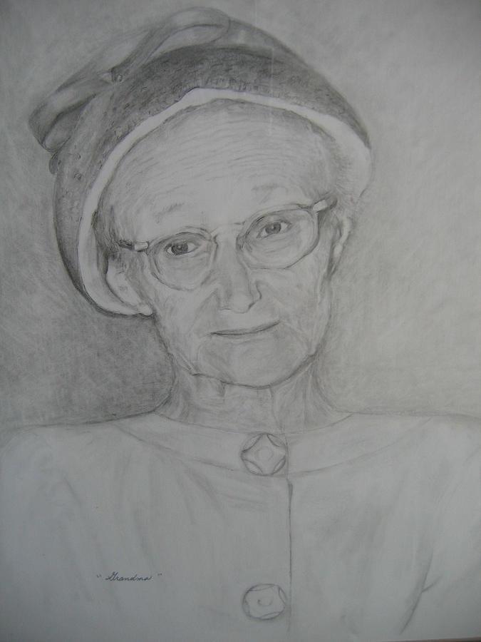 Portrait Drawing - My Grandma by Marlene Robbins