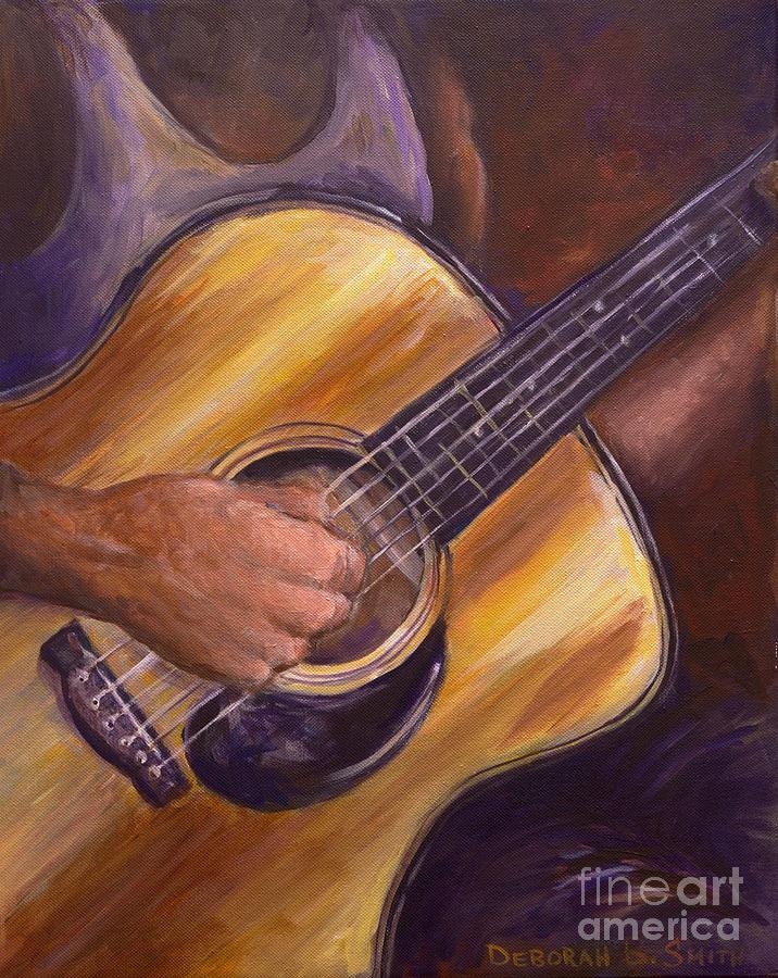 Guitar Painting - My Guitar by Deborah Smith