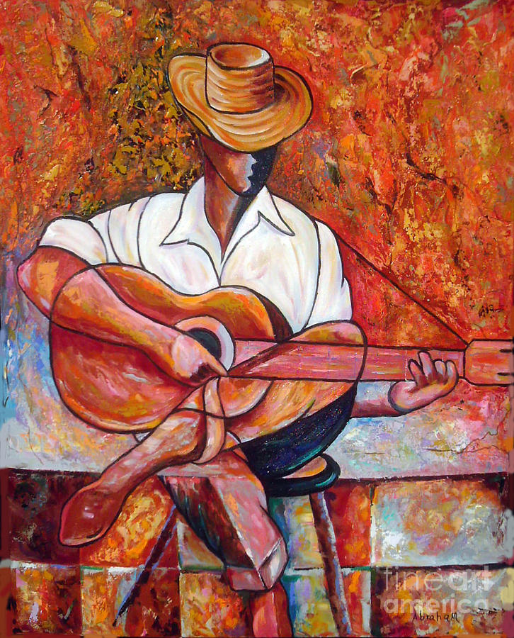 Guitar Painting - My Guitar by Jose Manuel Abraham