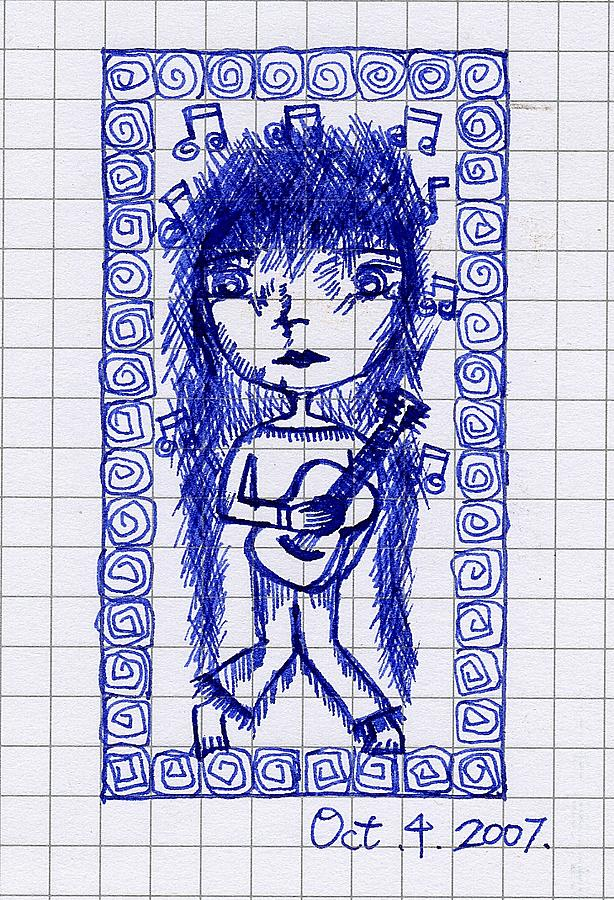 My Guitar Drawing by Yi Li Chuang