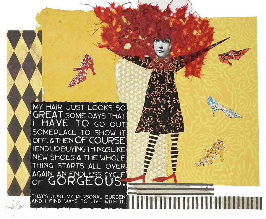Hair Mixed Media - My Hair by Kay Foley